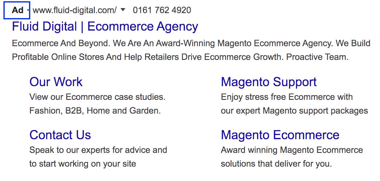 Google Search Ad Label